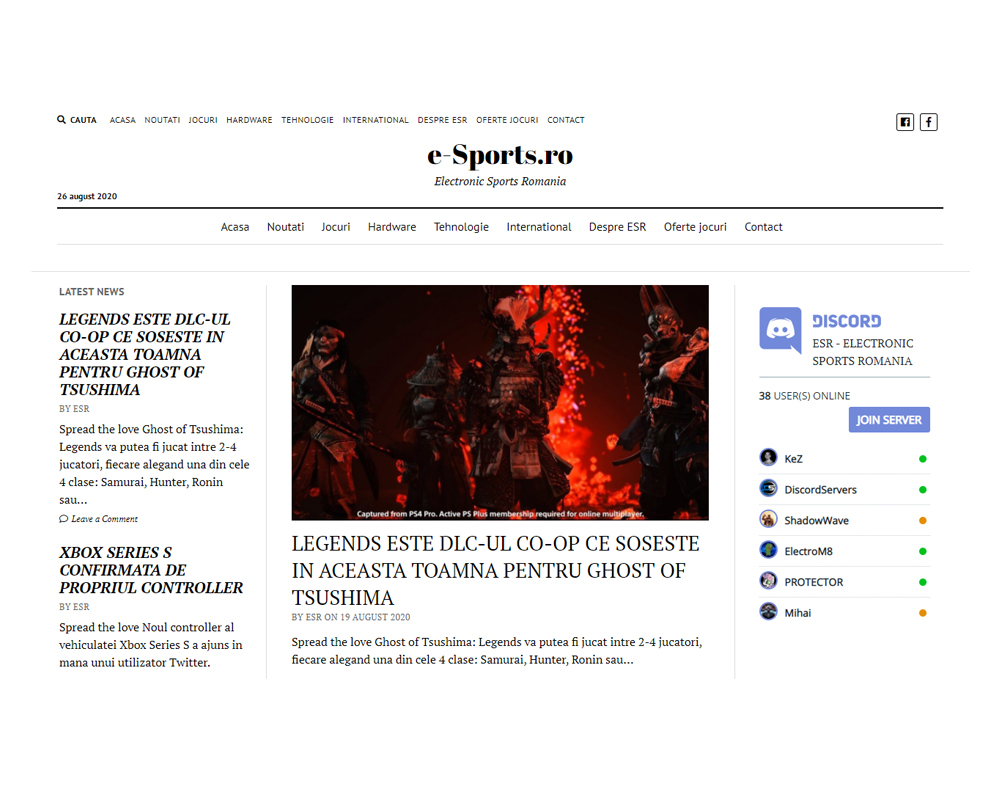 e-sports esport jocuri electronice web development readme-txt.ro